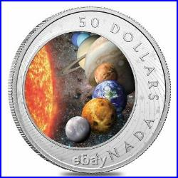 2021 Canada 5 oz The Solar System Colorized Proof Silver Coin. 9999 Fine withBox