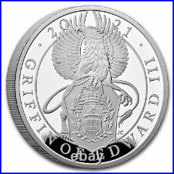 2021 GB 1 oz Silver Queen's Beasts Griffin Proof (withBox & COA) SKU#227224