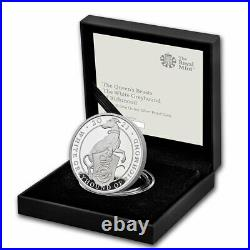 2021 GB Proof 1 oz Silver Queen's Beasts Greyhound (withBox & COA) SKU#218351