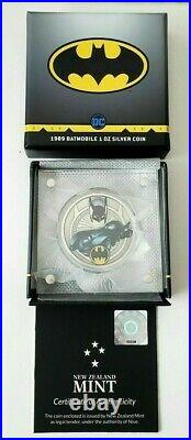 2021 Niue DC Comics 1989 Batmobile 1 oz Silver Colorized Proof Coin New in Box
