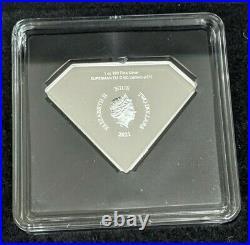 2021 Niue DC Superman Shield 1 oz 999 Fine Silver $2 Proof Coin New in Box+COA