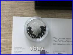 2021 Queens Beasts The Griffin Of Edward 1oz Silver Proof Coin Box COA