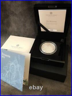 2021 Royal Mint Premium 2oz Silver Proof Britannia Coin Box and Certificate