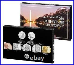 2021 S 99.9% SILVER Proof Set US Mint Coin Set with Box & COA 21RH Pre-Sale