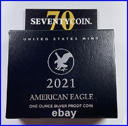 2021 S Type 2 American Silver Eagle Proof PF PR Box OGP & COA