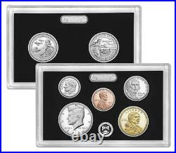 2021 Silver Proof Set 7 Coin Set with Box & COA Washington Delaware in hand