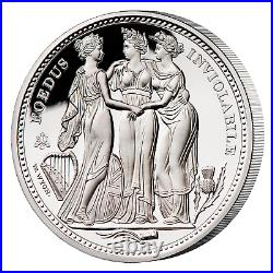 2021 St. Helena Three Graces 1 Oz Silver Proof complete with coa and box In Hand