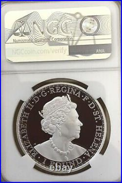 2021 Una and The Lion 1 oz Silver Proof NGC PF70 St Helena BOX COA SOLD OUT NICE
