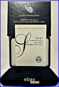 2021 W $1 American Proof Silver Eagle Type 1 Ngc Pf69 Fr =box & Coa Included=