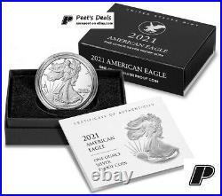 2021 W American Eagle 1oz Silver Proof Coin 21EAN T-2 COA+BOX PRE-SALE -Mr Peet