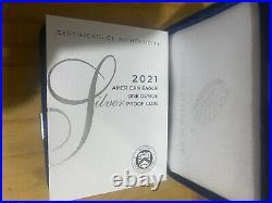 2021-W PROOF AMERICAN SILVER EAGLE TYPE 1 HERALDIC with Box & COA