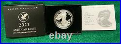 2021-w American Silver Eagle Proof Coin Type 2 With Box & Coa