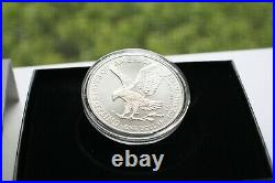 2021-w Silver Eagle Type 2 Proof Dollar From Mint With Box & Coa (2 Sets)