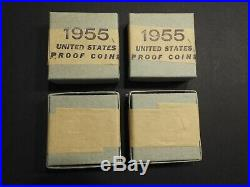 2-1955 silver proof sets in original sealed unopened box from United States mint