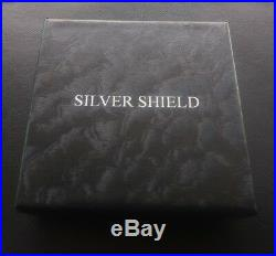 2 oz silver proof cannabis cures COA. 999 pure fine BOX weeds pot silver shield