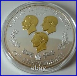 3 kings 5oz. 925 silver proof coin / medal 2011 Ltd ed 85/ 450 box & COA -1231
