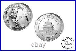 50 Yuan China Panda 2021 150 Gramm 999 AG / Silber Proof mit OVP Box und COA