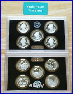 5 2019 S 99.9% Silver America The Beautiful 5 Coin Gem Proof Set with COA & no box