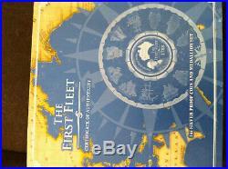 5 Oz Silver 2008 First Fleet Proof Coin Australia 13 Piece Jigsaw Coin Box Set