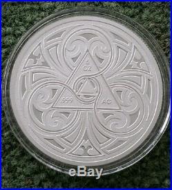 5 Oz Silver. 999 Coin Proof Steve Ferris Lady Godiva Box & Coa Rare Round Girl