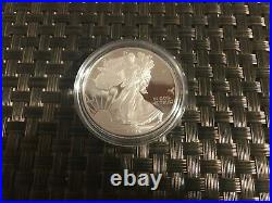 AMERICAN EAGLE 1996 P ONE OUNCE PROOF SILVER BULLION COIN OGP with BOX & COA