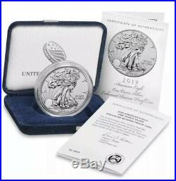 American Eagle 2019-S 1 Ounce Silver Enhanced Reverse Proof Coin UNOPENED BOX