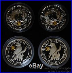 Australia $2 Dollars 1994 silver RARE Kookaburra Set 2 Specimen 2 Proof COA Box