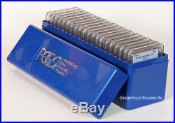 BOX OF 20 1976-S BICENTENNIAL SILVER 25c PROOF QUARTERS PCGS PR69 DCAM CONTRAST