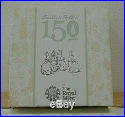 Beatrix Potter 150th Anniversary Sterling Silver Proof 50p 2016 Royal Mint Boxed