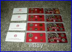 COMPLETE SET SILVER 90% PROOF SETS 109 TOTAL COINS 1999-2008 With COAs & BOXES