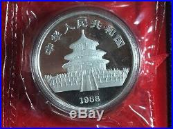 China 1988 Lunar Year of the Dragon 1 oz Silver Proof Coin Box COA 20000 Mintage