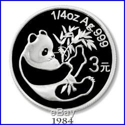 China 2007 25th Anniversary Silver Panda Proof Set Box & COA