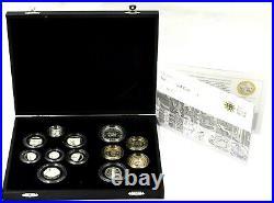 Coin Silver Proof 2009 12 Coin Year Set Kew Gardens 50p Box COA