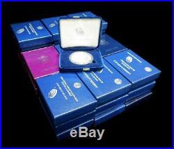 Complete 1986-2018 American 32 Silver Eagles Proof Coins (box + Coa's)