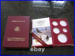 EMPTY BOX for 1995 10th Anniversary 5 Coin Gold & Silver Proof Eagle Set