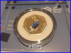 ERROR 2017 BEATRIX POTTER Silver Proof 50p Coins Gift Set x 4 boxes