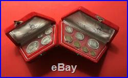 Egypt-2 Sets Of Sealed Silver Proof Coins(1964&1966), With Original Red Box. Rare