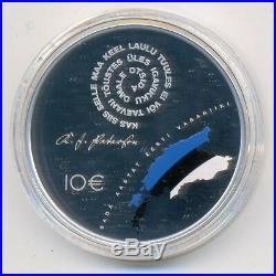 Estonia Estonian Republic Centenary Silver Coin 10 Euro 2018 PROOF Box COAT