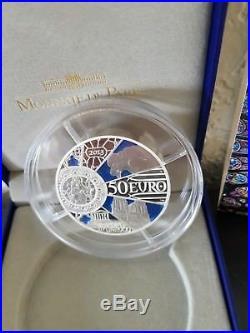 France 50 euro silver Proof coin 2013 Unesco Notre Dame de Paris New Box +COA