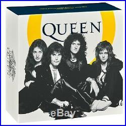 Great Britain 2020 £10 Music Legends QUEEN Silver Proof 5 oz Coin Box Coa