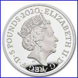 Great Britain 2020 £5 Music Legends Queen Silver Proof 2 oz Coin Box Coa