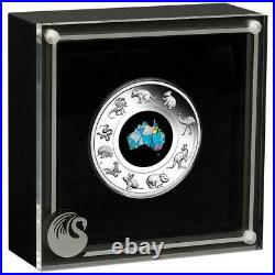 Great Southern Land 2020 1oz Silver Proof Opal Coin ORIGINAL BOX withCOA