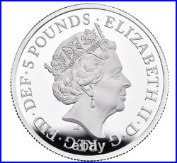 In Stock! -The Queen's Beasts 2021 UK Two-Ounce Silver Proof Coin (with Box & COA)
