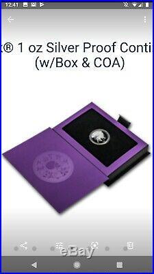 John Wick 1oz Silver Proof Continental Coin (with Box & COA)