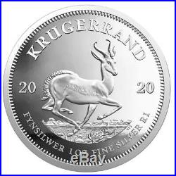 KRUGERRAND 2020 1 oz 1 Rand Pure Silver Proof Coin South Africa SEALED IN BOX