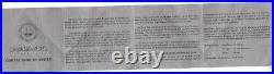 KUWAIT SILVER PROOF 5 DINARS COIN 1981 YEAR KM#16 15th ANNI HIJIRA + BOX + COA