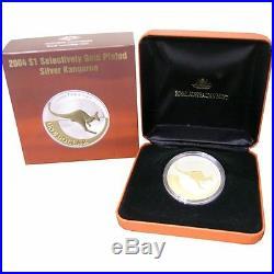 Kangaroo 1oz Silver Proof Boxed 2003 2004 2005 2006 2007 2008 Gold plated SET