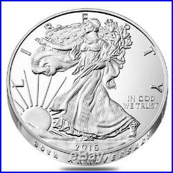 Lot of 5 2016-W 1 oz Proof Silver American Eagle 30th Anniversary withBox &