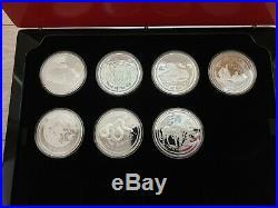 Lunar II 2oz proof silver silber coin Münzen 7 Stück +COA +Box