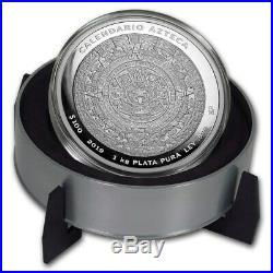 MEXICO AZTEC CALENDAR 2019 1 Kilo Pure Silver Proof Coin with Box and COA